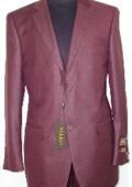 Designer 2-Button Shiny Burgundy