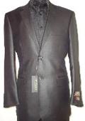 Shiny Black Sharkskin Suit