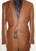 Shiny Rust Sharkskin Suit