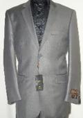 Shiny Silver Gray Sharkskin Suit