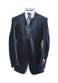 Shiny Blue Sharkskin Suit