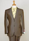 Shiny Brown Sharkskin Suit
