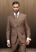 Double Breasted Brown Suit