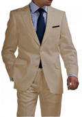Tan 2 Button Tapered Suit