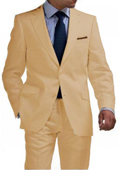 Khaki 2 Button Tapered Suit