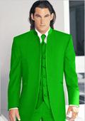 Tuxedo Mandarin Collar Lime