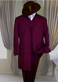 Long Burgundy Fashion Zoot