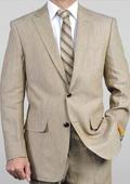 Beige Linen Suit
