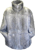 Rabbit Fur Coat Gray