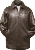 Traditional Coat Brown Leather