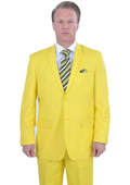 Bright Colored 2 Piece affordable suit online sale - Yellow
