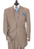 3 Piece Taupe Suit