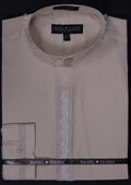 Mens Beige Dress Shirt