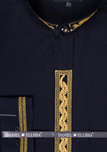 Mens Black/Gold Dress Shirt