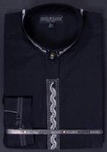 Mens Black/Silver Dress Shirt