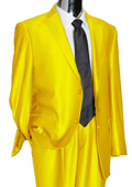 Utex Shiny 2 Button Yellow TNT Sharkskin Mens Suit