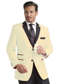 Cream Two Button Notch Party Suit