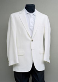 2 Button Blazer White