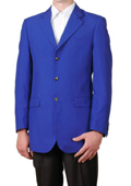 Royal Blue Three Button Sportcoat