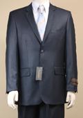 Men's Shiny Sharkskin Navy Suit