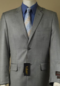 Men's Shiny Sharkskin Gray Suit