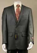 Men's Shiny Sharkskin Charcoal Gray Suit