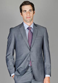 Slim Fit Grey Stripe