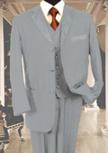 3PC Light Gray Tuxedo