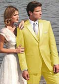 Yellow Two Button Tuxedo