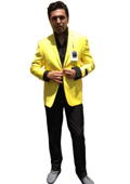 Men's Two Button Blazer Yellow