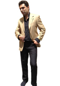 Men's Two Button Blazer Camel Bronze