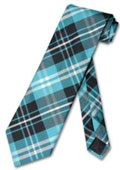 Black Turquoise Neck Tie