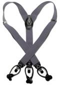 Grey Black Suspenders Elastic