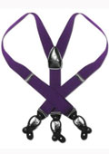 Purple Black Suspenders Elastic