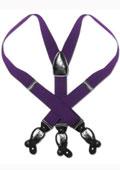Purple Black Suspenders Elastic