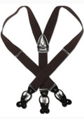 Dark Brown Leather Suspenders