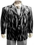 Mens Silver Velvet Suit