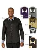 Men's Shiny Black Suit