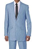 Mens Blue White Suit