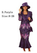 Dress Set Dark Purple