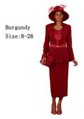 Dress Set Burgundy $139