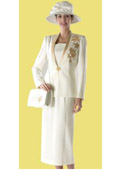 Women Dress Set Ivory/Gold