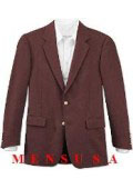 Wine Color 2 Button Fully Lined Metal Button Blazer