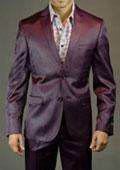 Men's Burgundy Suit