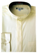 Mens Cream Dress Shirt