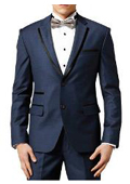 Royal Blue And White Tuxedo