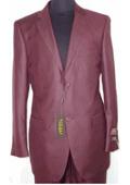 2 Button Burgundy Suit