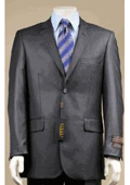 2 Button Charcoal Gray Suit