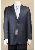 2 Button Navy Blue Suit