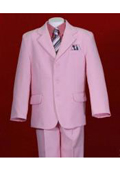 Pink Notch Lapel Single